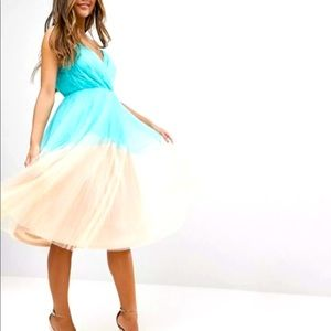 Asos Colorblock Tulle Dress US size 4
